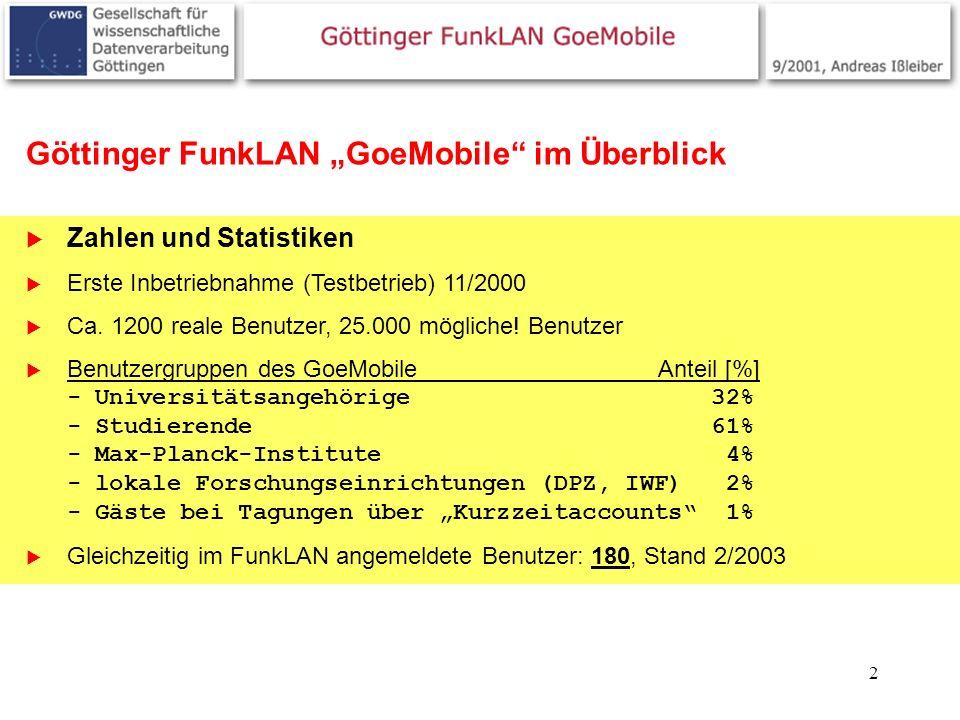 "Göttinger FunkLAN ""GoeMobile im Überblick"