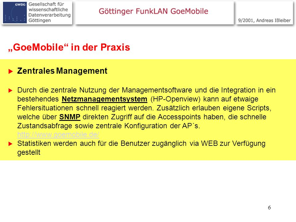 """GoeMobile in der Praxis"