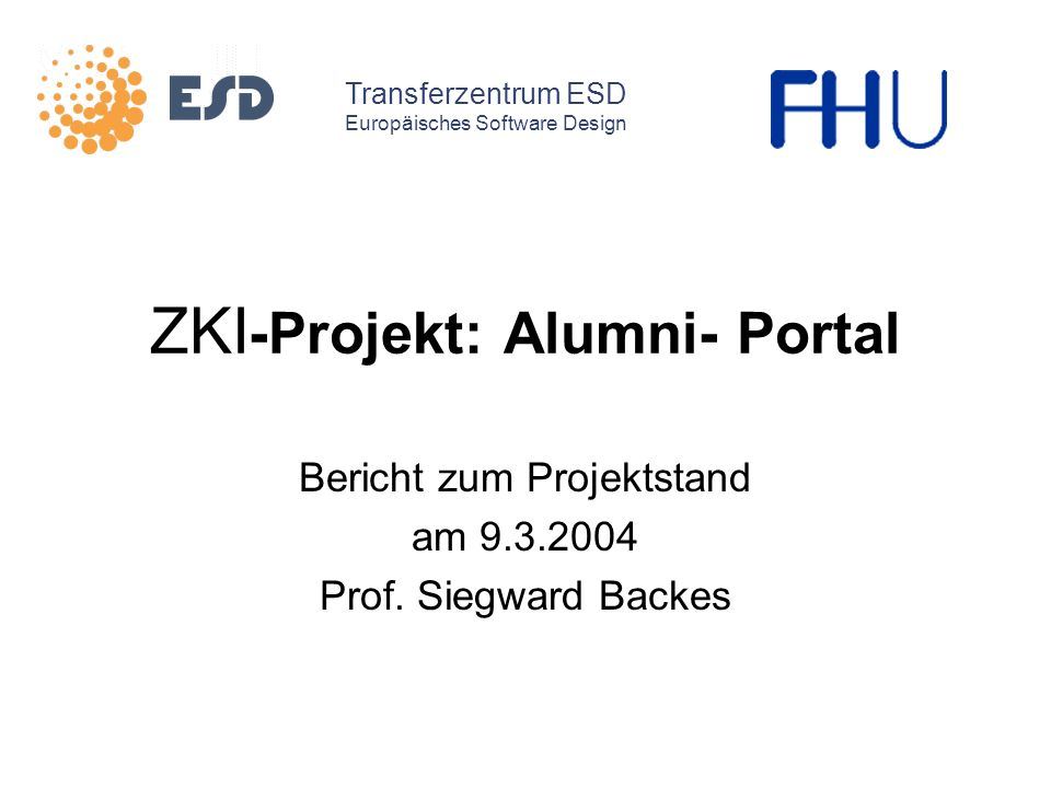 ZKI-Projekt: Alumni- Portal