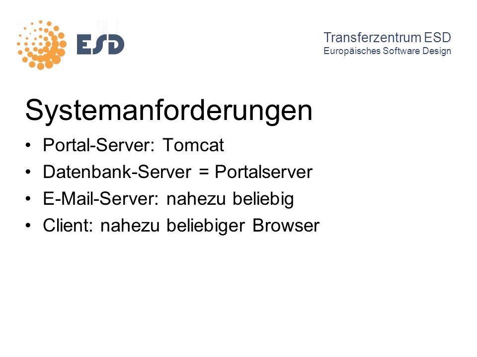 Systemanforderungen Portal-Server: Tomcat