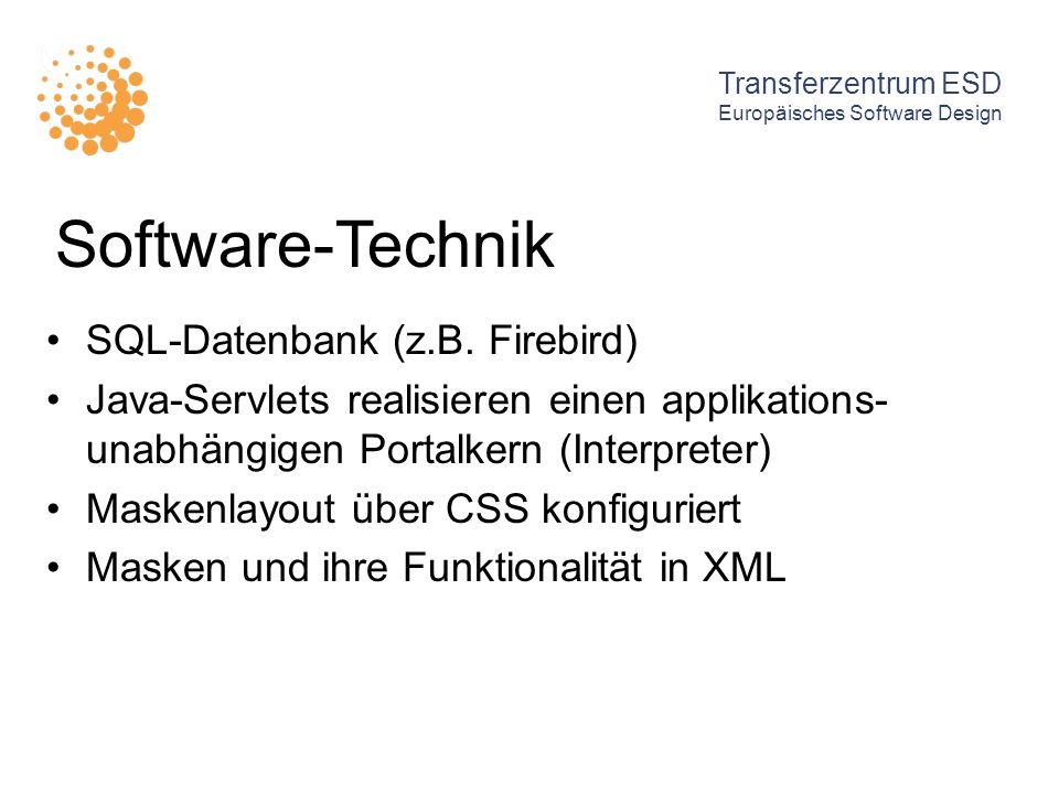 Software-Technik SQL-Datenbank (z.B. Firebird)