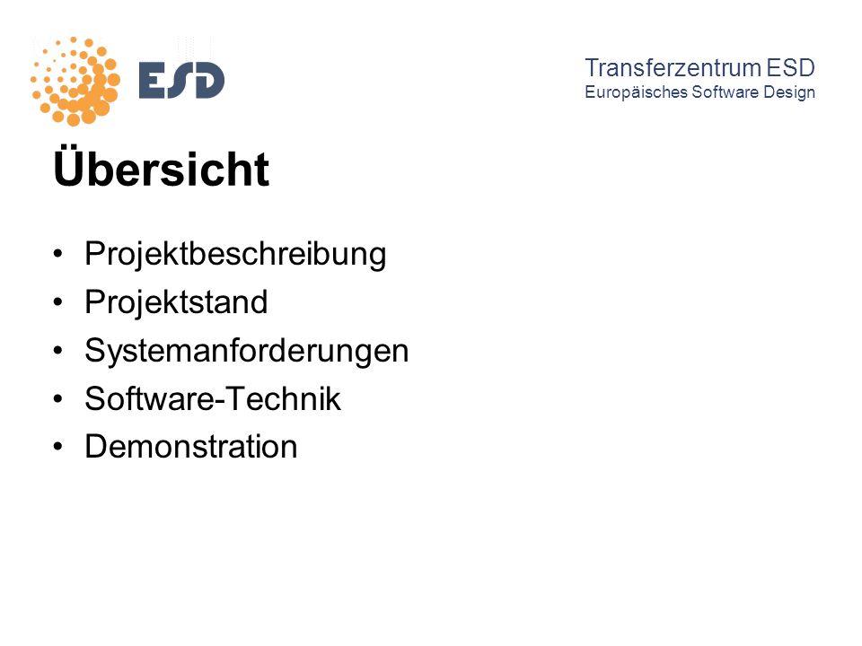 Übersicht Projektbeschreibung Projektstand Systemanforderungen
