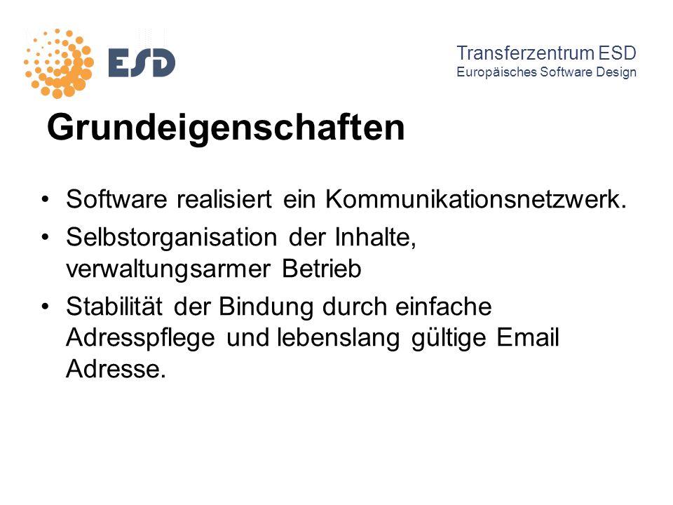 Grundeigenschaften Software realisiert ein Kommunikationsnetzwerk.