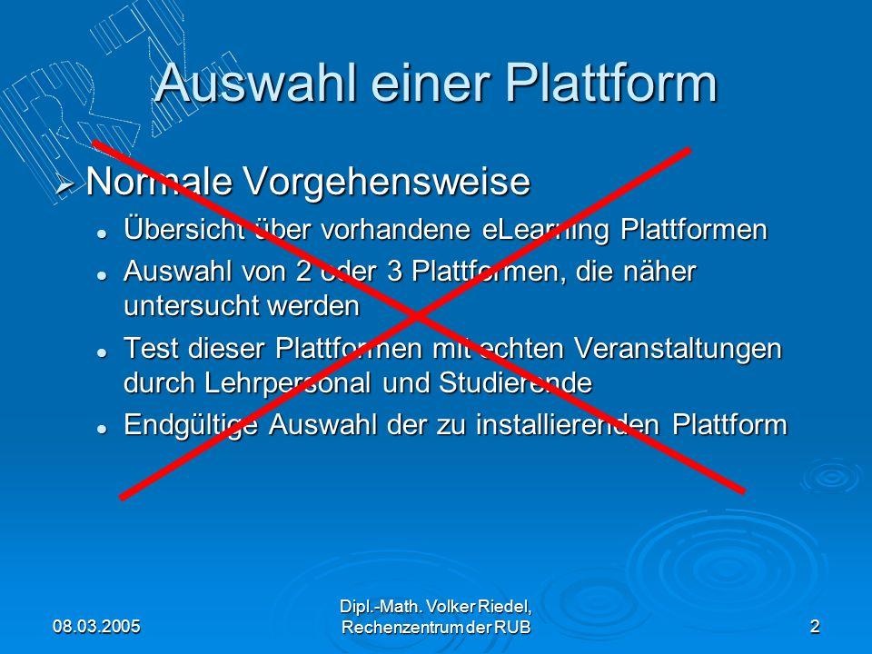 Auswahl einer Plattform