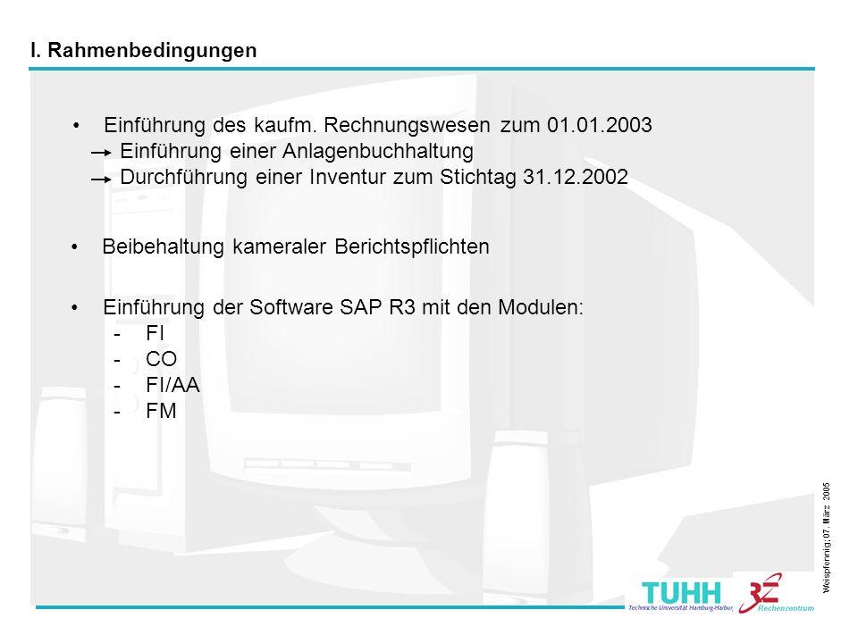 Einführung des kaufm. Rechnungswesen zum 01.01.2003