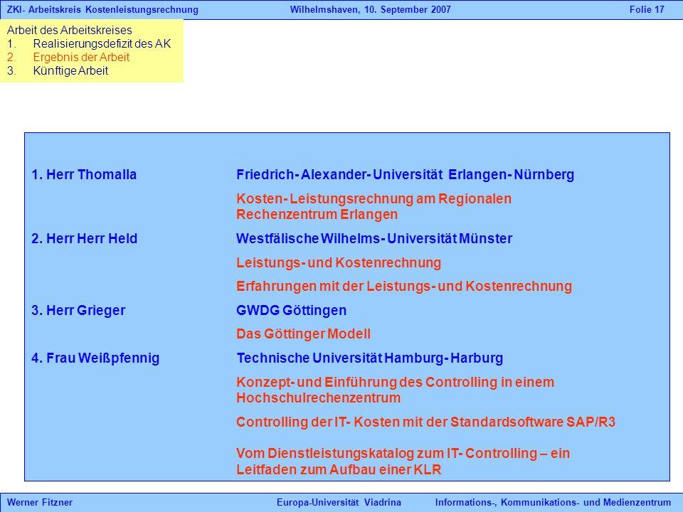 1. Herr Thomalla Friedrich- Alexander- Universität Erlangen- Nürnberg