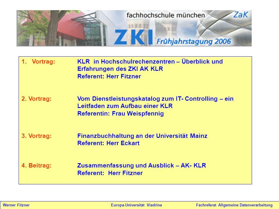 Vortrag: KLR in Hochschulrechenzentren – Überblick und