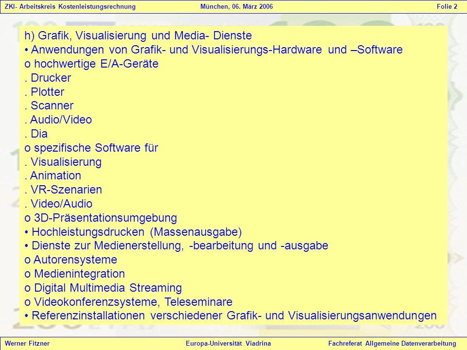 h) Grafik, Visualisierung und Media- Dienste