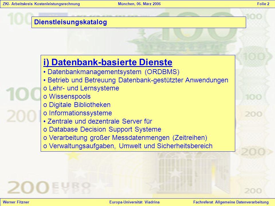 i) Datenbank-basierte Dienste