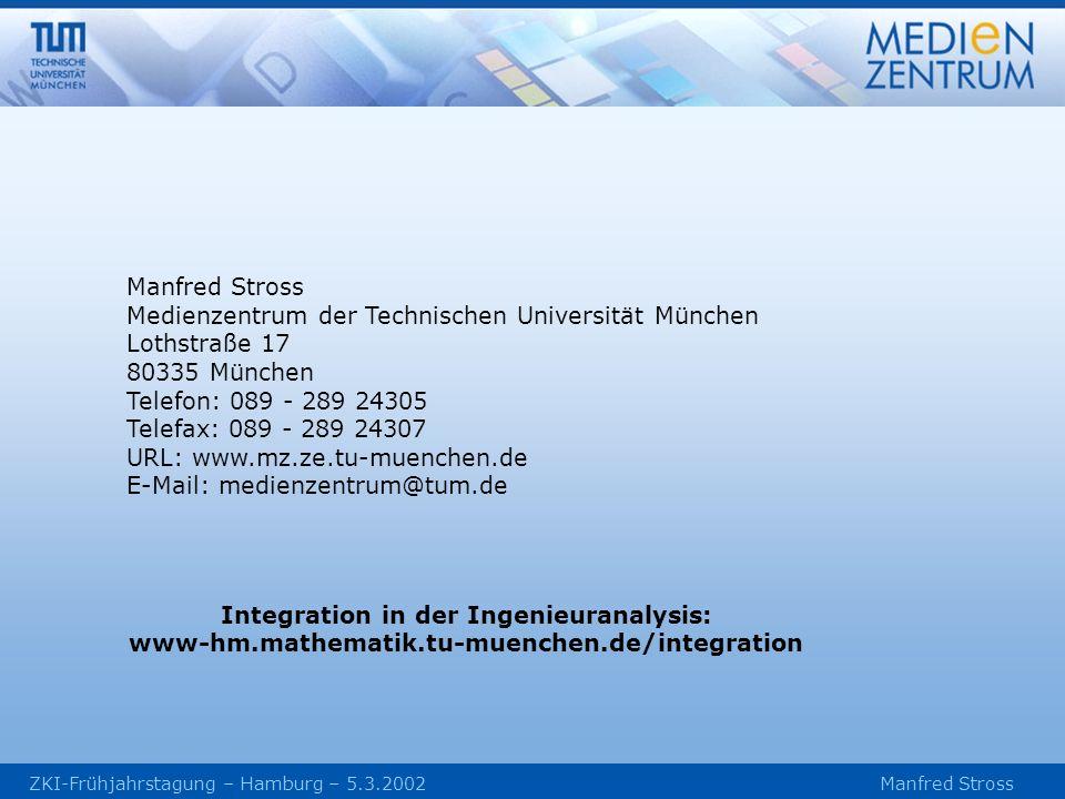 Medienzentrum der Technischen Universität München Lothstraße 17