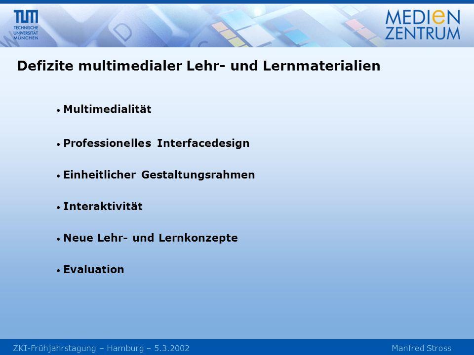 Defizite multimedialer Lehr- und Lernmaterialien