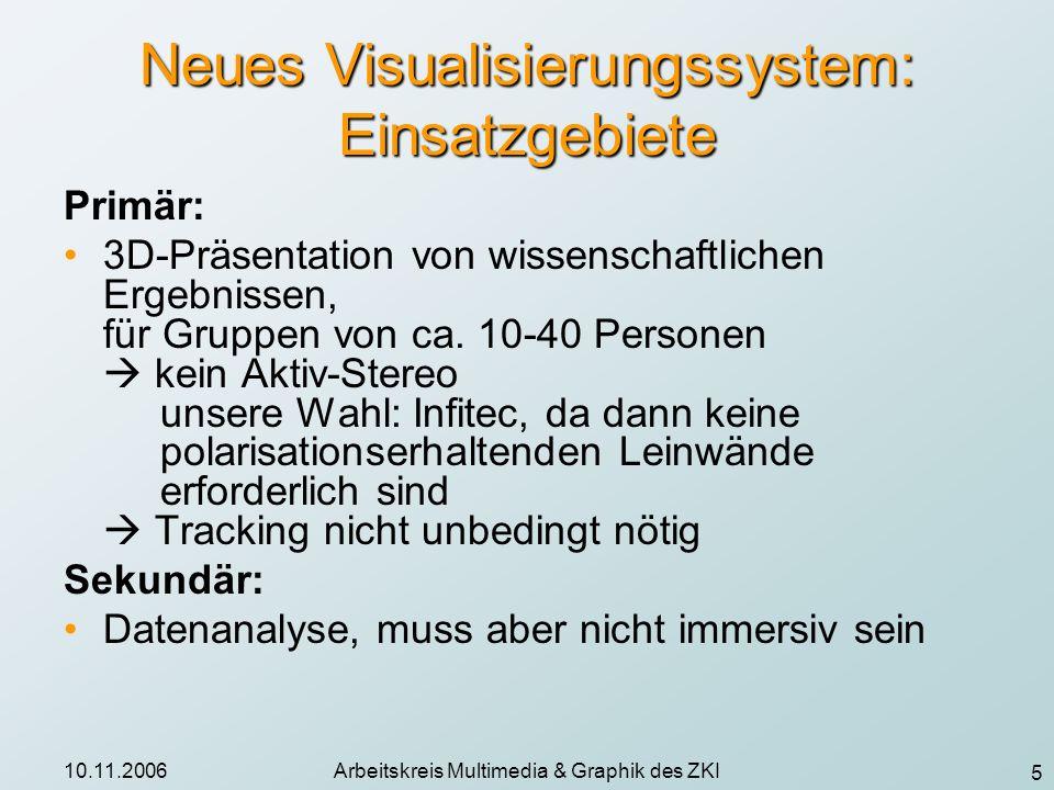 Neues Visualisierungssystem: Einsatzgebiete