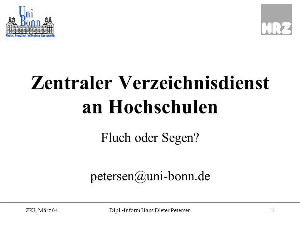 Zentraler Verzeichnisdienst an Hochschulen