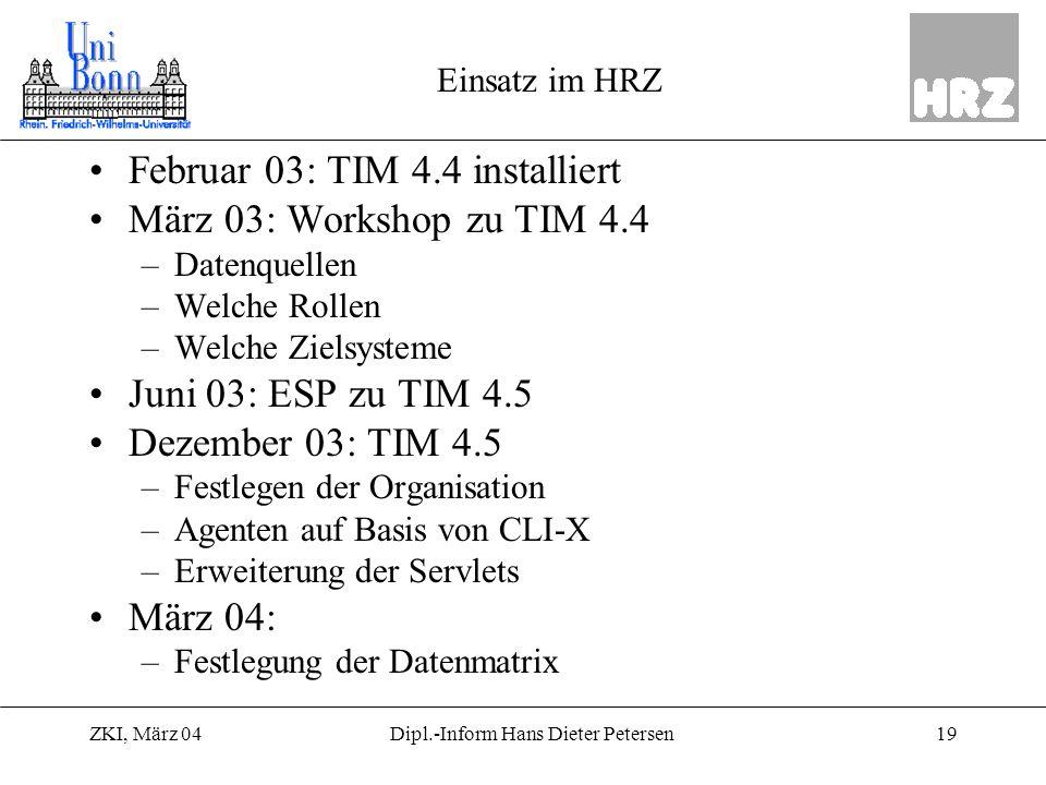 Dipl.-Inform Hans Dieter Petersen