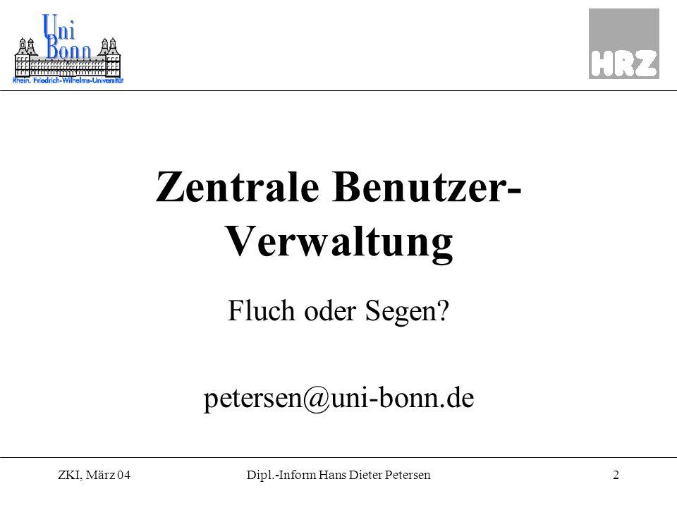 Zentrale Benutzer-Verwaltung
