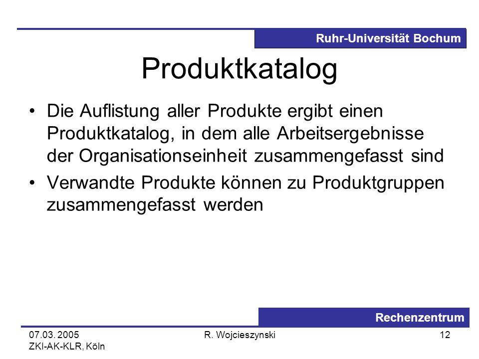 Produktkatalog Die Auflistung aller Produkte ergibt einen Produktkatalog, in dem alle Arbeitsergebnisse der Organisationseinheit zusammengefasst sind.