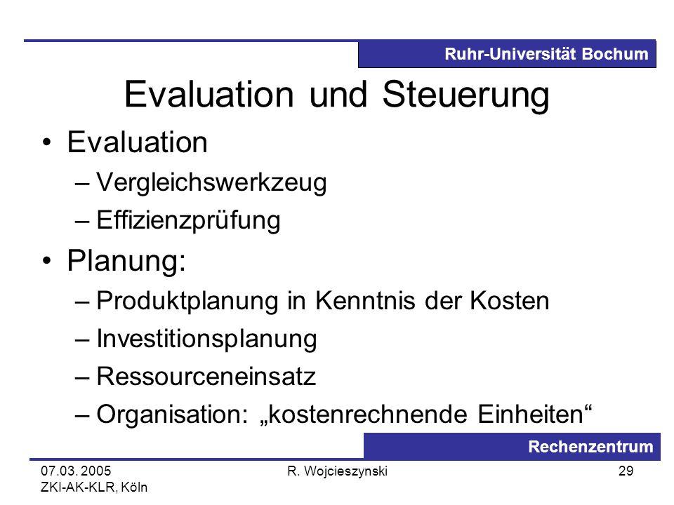 Evaluation und Steuerung