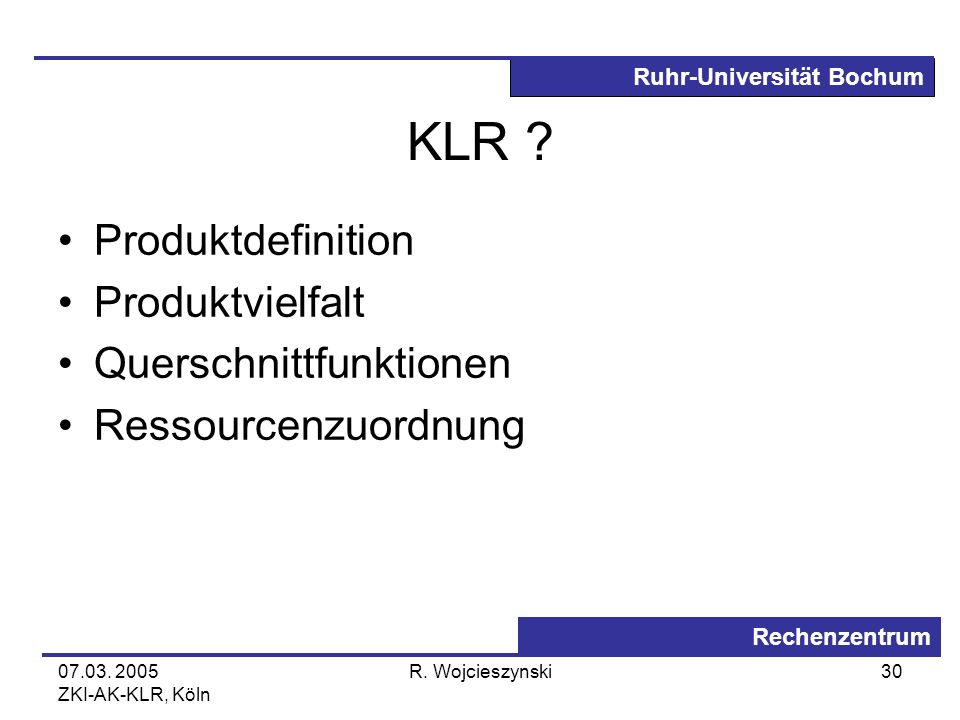 KLR Produktdefinition Produktvielfalt Querschnittfunktionen