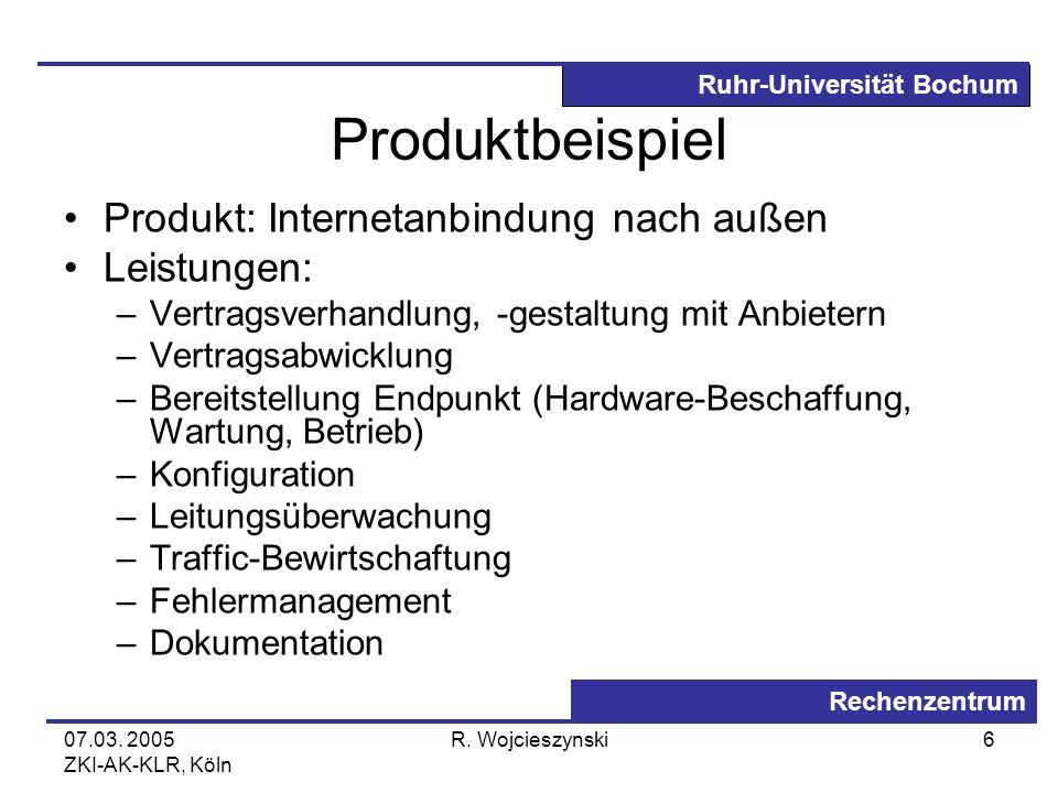 Produktbeispiel Produkt: Internetanbindung nach außen Leistungen: