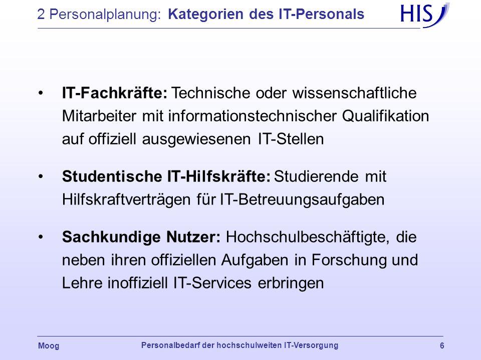 2 Personalplanung: Kategorien des IT-Personals