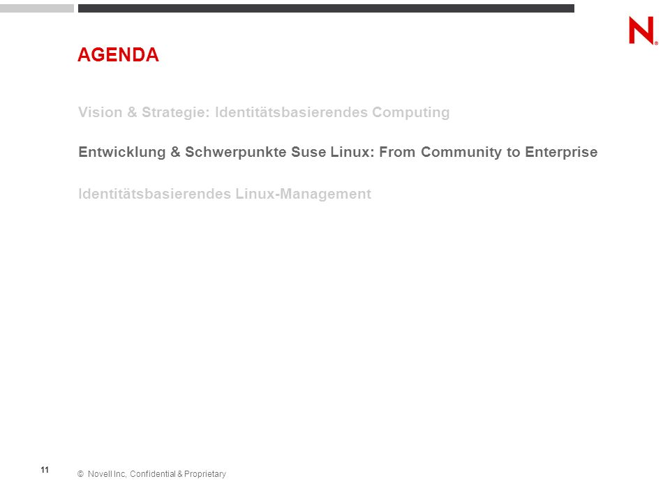 AGENDA Vision & Strategie: Identitätsbasierendes Computing