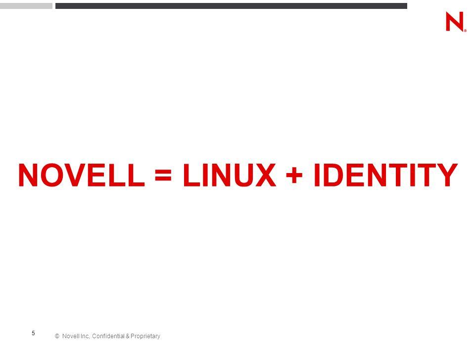 NOVELL = LINUX + IDENTITY
