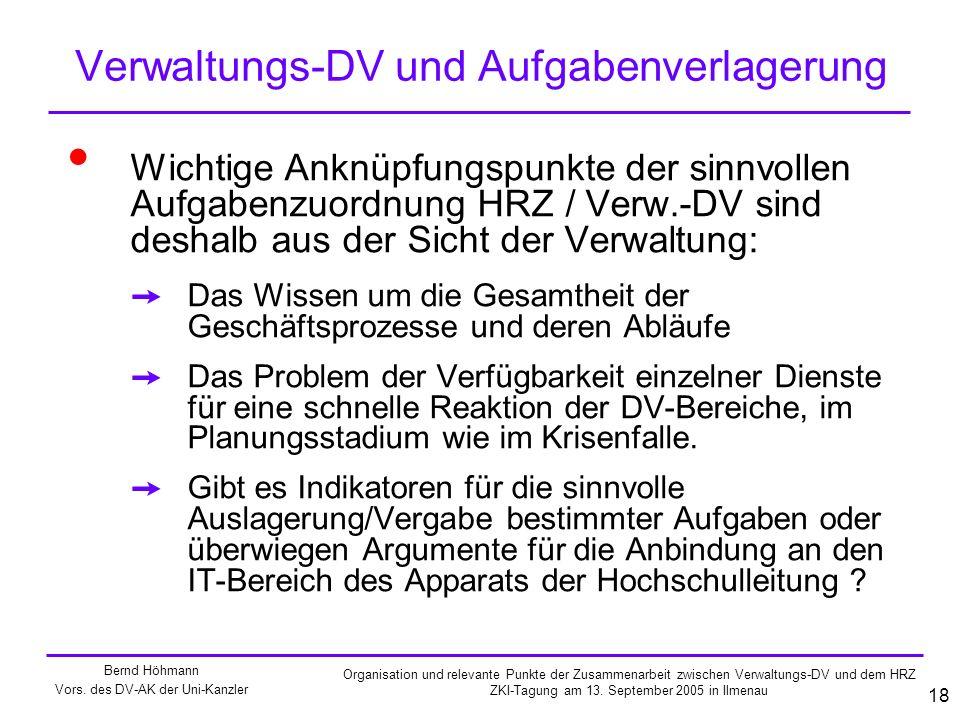 Verwaltungs-DV und Aufgabenverlagerung
