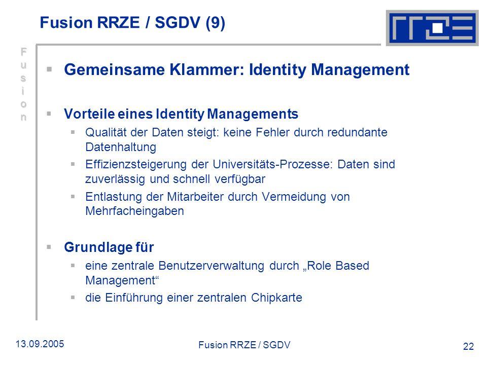 Gemeinsame Klammer: Identity Management