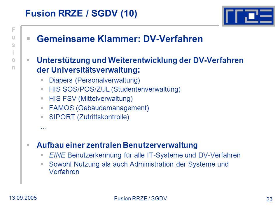 Gemeinsame Klammer: DV-Verfahren