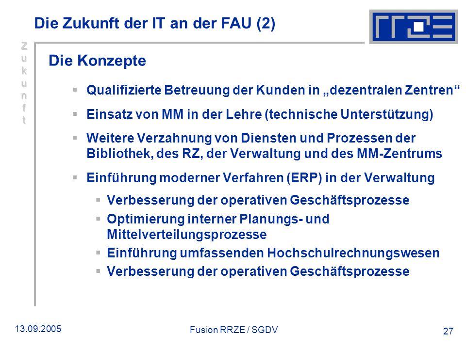Die Zukunft der IT an der FAU (2)