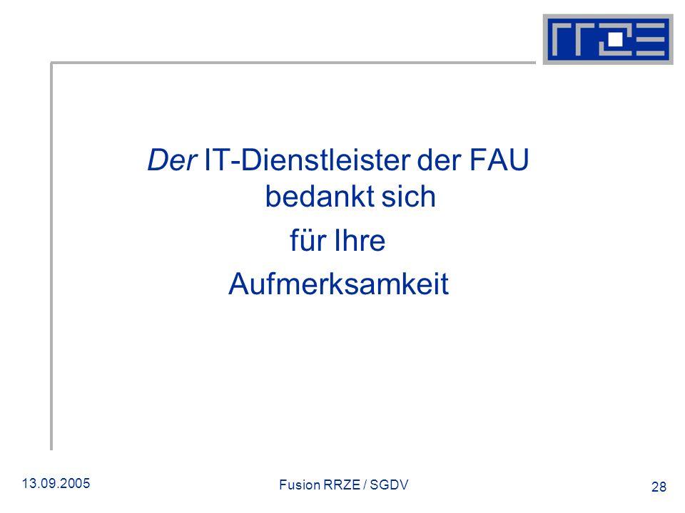 Der IT-Dienstleister der FAU bedankt sich