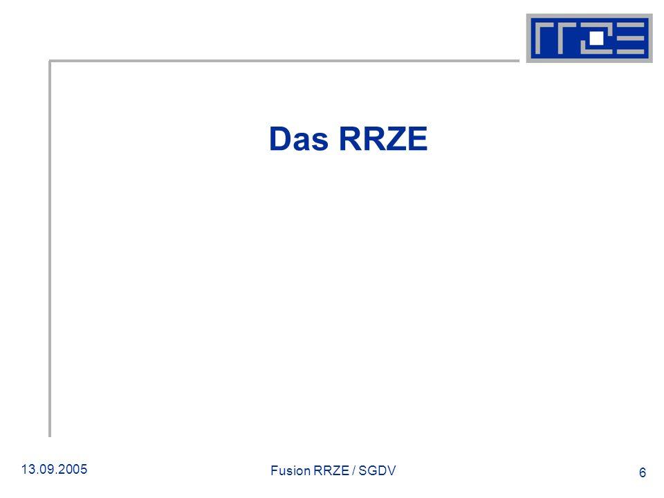 Das RRZE Fusion RRZE / SGDV