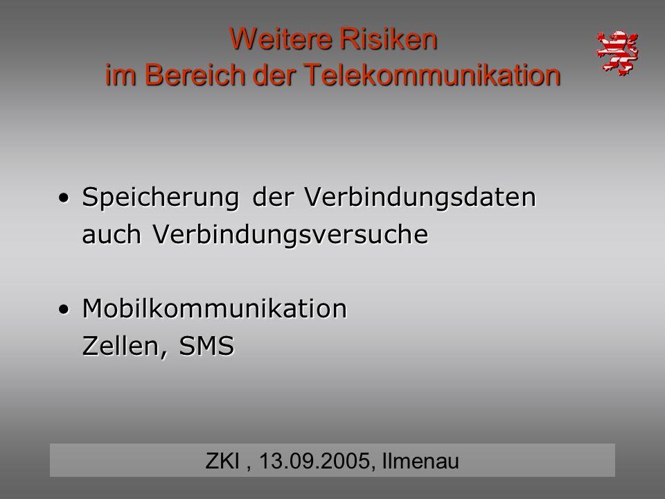 Weitere Risiken im Bereich der Telekommunikation