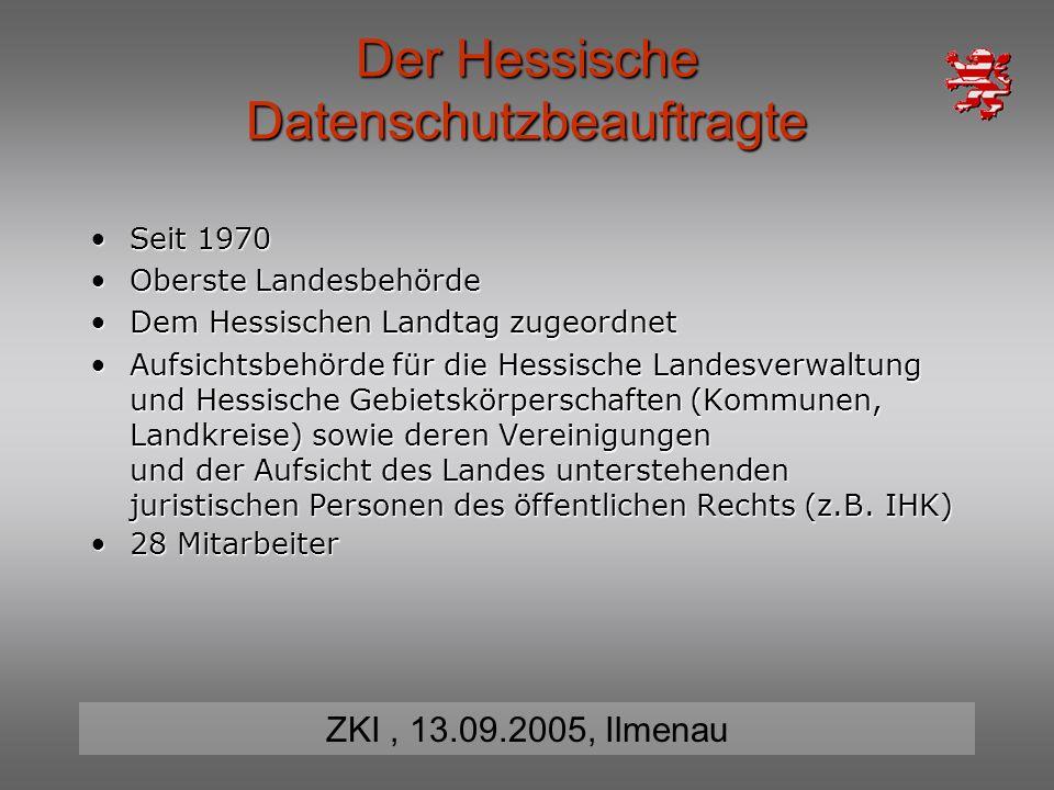 Der Hessische Datenschutzbeauftragte