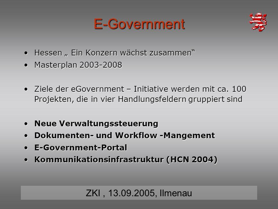 """E-Government Hessen """" Ein Konzern wächst zusammen"""