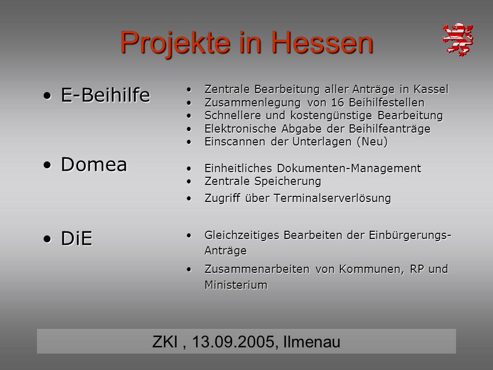Projekte in Hessen E-Beihilfe Domea DiE