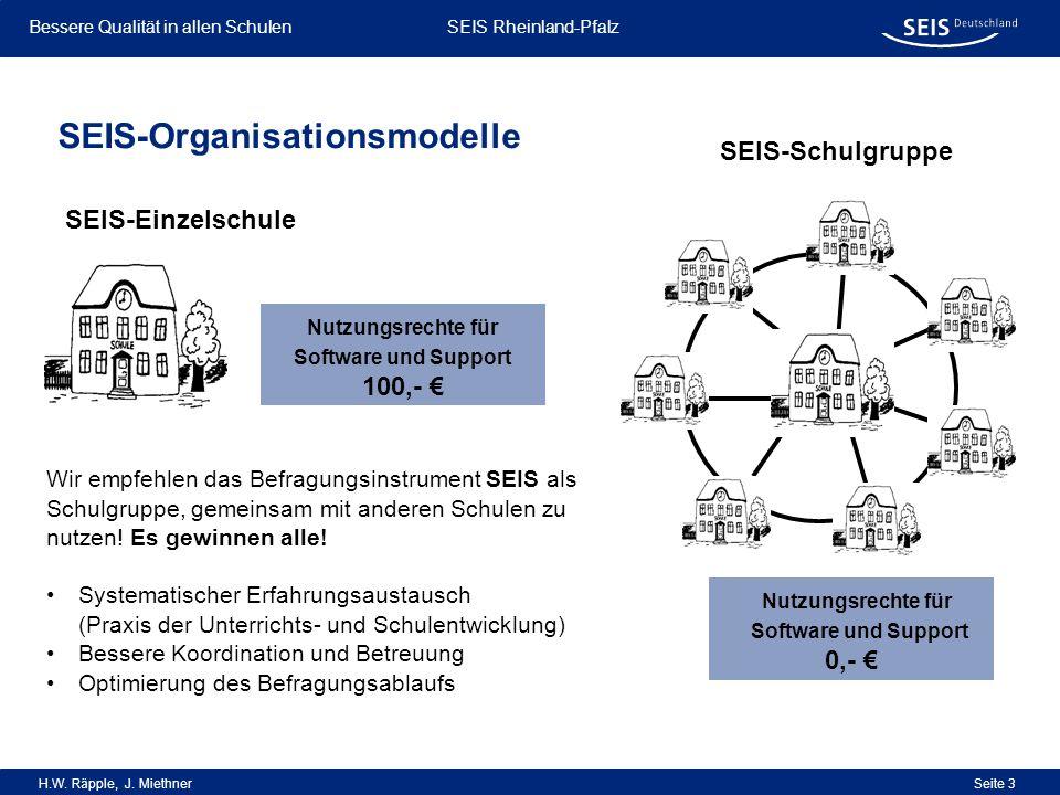SEIS-Organisationsmodelle