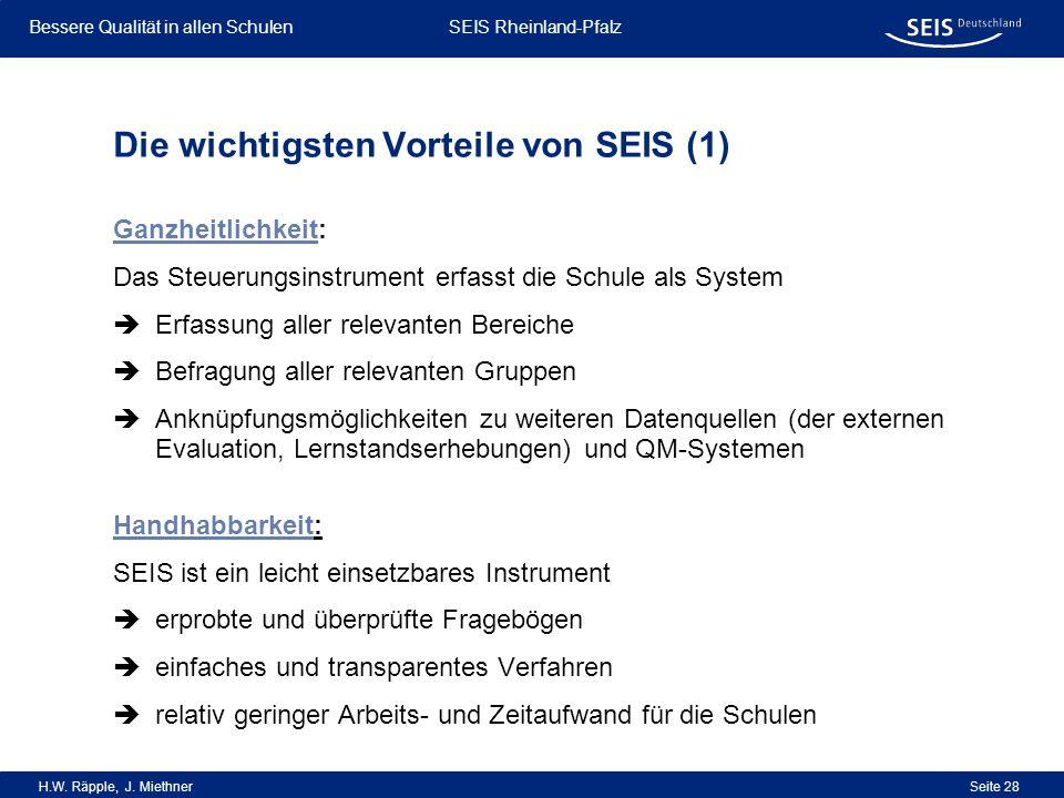 Die wichtigsten Vorteile von SEIS (1)