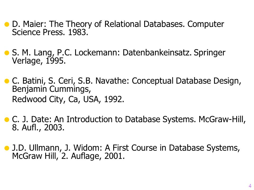 D. Maier: The Theory of Relational Databases. Computer Science Press