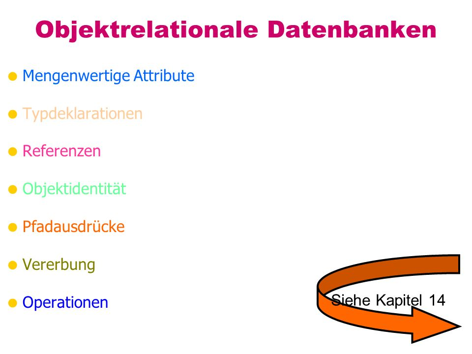 Objektrelationale Datenbanken