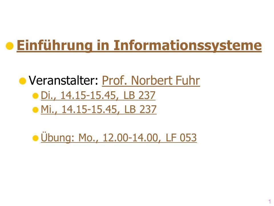 Einführung in Informationssysteme