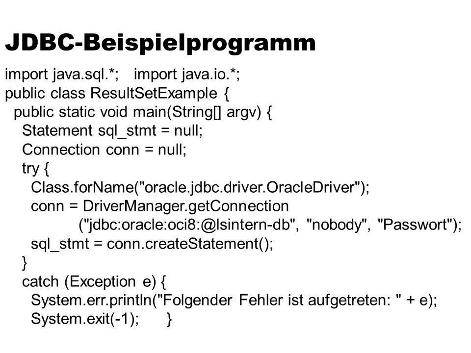JDBC-Beispielprogramm