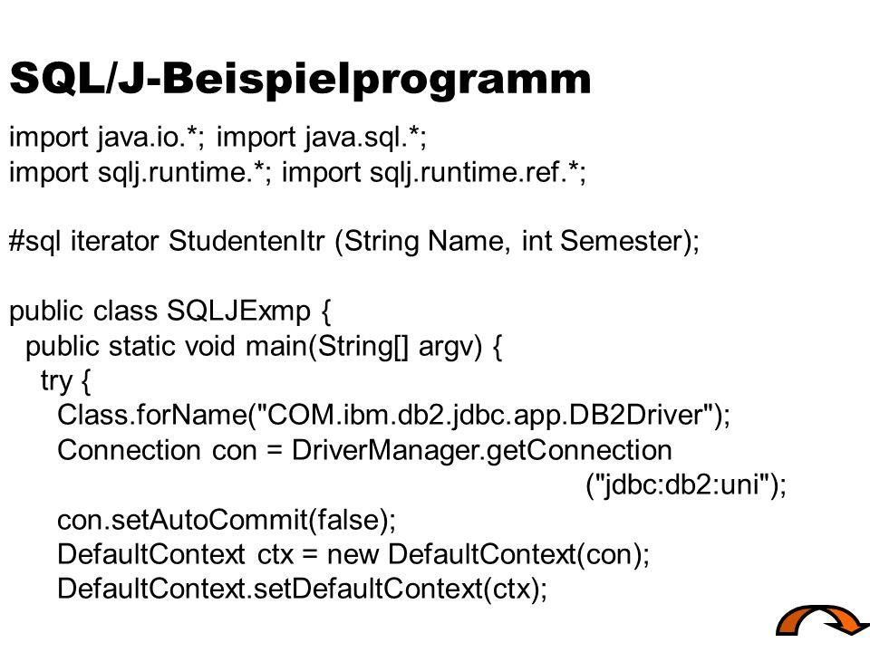 SQL/J-Beispielprogramm