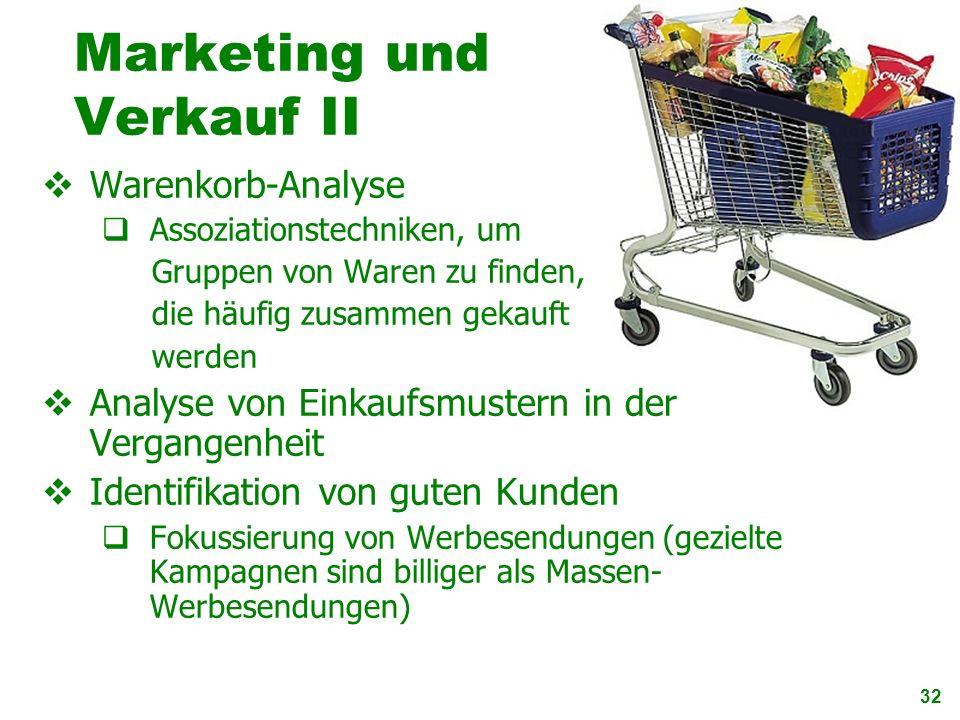 Marketing und Verkauf II