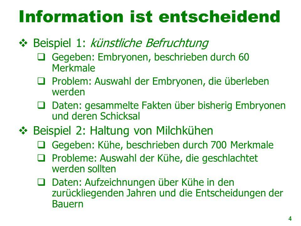 Information ist entscheidend