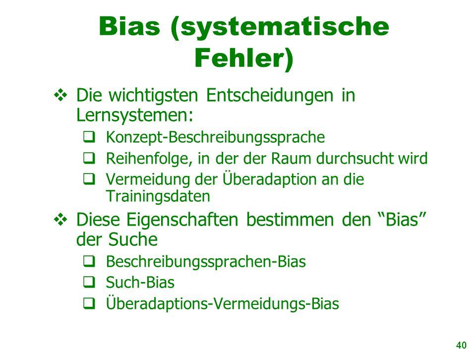 Bias (systematische Fehler)