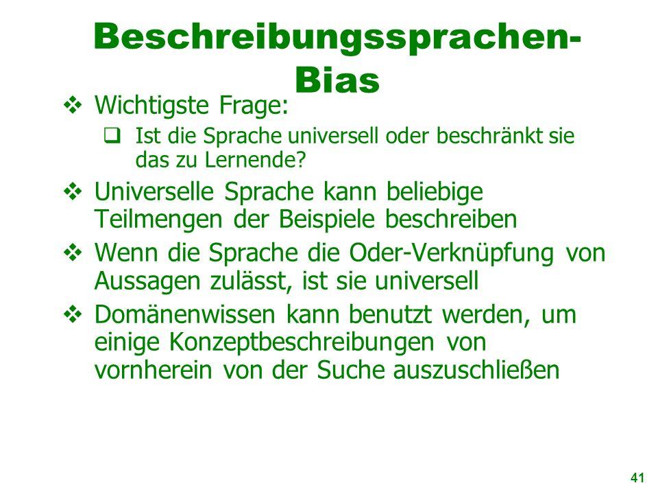 Beschreibungssprachen-Bias