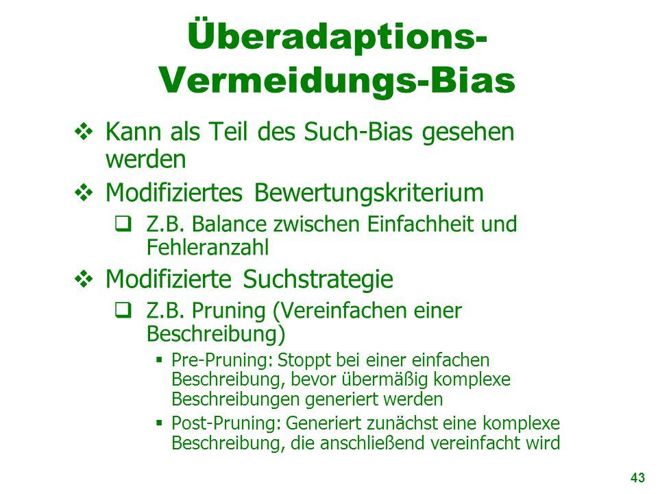 Überadaptions-Vermeidungs-Bias