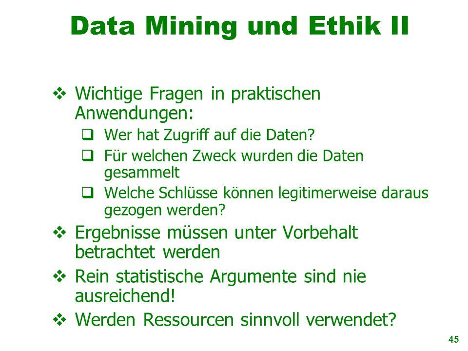 Data Mining und Ethik II