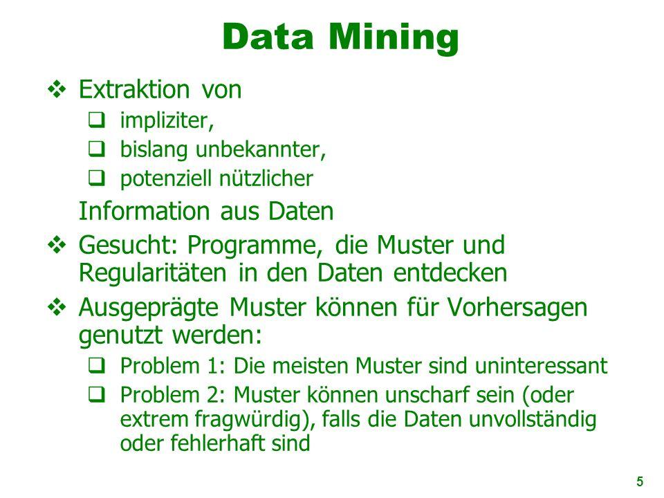 Data Mining Extraktion von Information aus Daten
